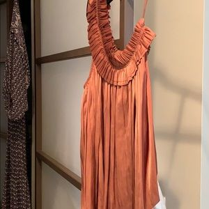 Ulla Johnson Lulu top in copper. One shoulder.